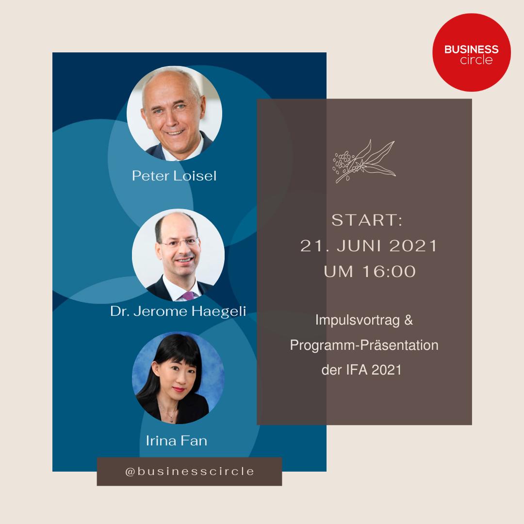 Impulsvortrag Programm Präsentation der IFA 2021 2