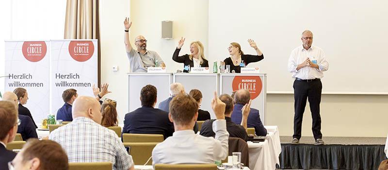 Markus Stelzmann, Silvia Moser, Vanessa Langhammer, Sven Schnägelberger
